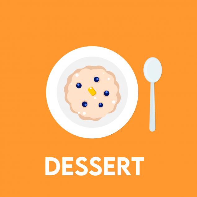 Monday : Lunch Dessert